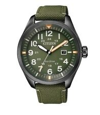 CITIZEN AW5005-21Y Eco-Drive Mens Solar Watch green WR100m RRP $349.00