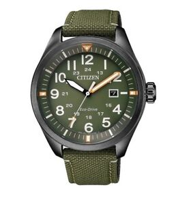 CITIZEN AW5005-21Y Eco-Drive Mens Solar Watch green WR100m RRP $449.00