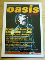 OASIS: KNEBWORTH PARK 1996  : A4 GLOSSY REPODUCTION POSTER