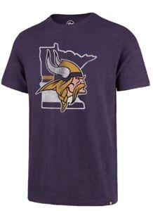 Minnesota Vikings '47 Brand  State Outline T-Shirt Medium