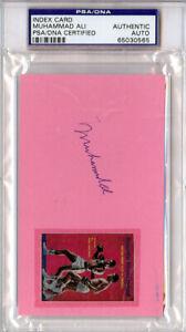 Muhammad Ali Authentic Autographed Signed 3x5 Index Card PSA/DNA COA 65030565