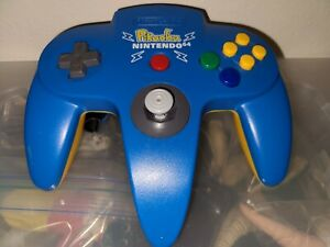 Pokemon Pikachu Blue N64 Controller Excellent Tested Working US Seller