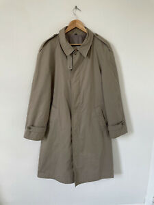 """Baracuta Beige Trench Coat Full Button Size 38"""" Small"""