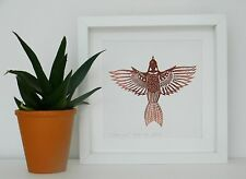 Sparrow - a limited edition lino print