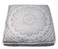 Indian* Square Floor Pillow Ombre Mandala Ottoman Meditation Cushion Cover 35""