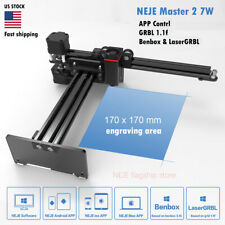 NEJE Master 7W CNC Laser Engraver DIY engraving Machine Logo Mark APP Control US