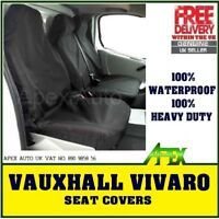 VAUXHALL VIVARO SPORTIVE Black Custom Van SEAT COVERS 100% WATERPROOF