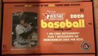 2020 Topps Heritage Minors factory sealed hobby box - Autos, Relics HOT!!