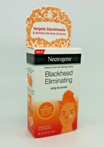 Neutrogena Blackhead Eliminating Strip to Scrub 6ct. 11/20 NEW
