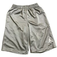 Nike Jordan Jumpman Youth Basketball Athletic Sport Gray Shorts Boys Size Medium