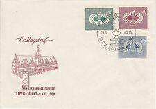 DDR FDC Ersttagsbrief 1960 Schach Olympiade Leipzig Mi.Nr.786-88