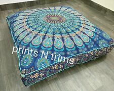 Square Mandala Floor Cushion Cover Dog Bed Indian Boho Tapestry Picnic Throw