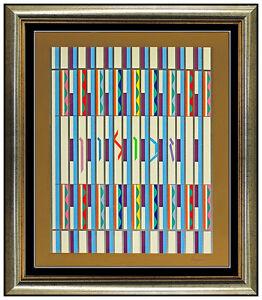 Yaacov AGAM Zebulun Color Silkscreen Signed Op Artwork Modern Illusion Authentic
