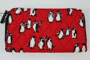 Vera Bradley PLAYFUL PENGUINS RED - ACCORDIAN WALLET New with Tags