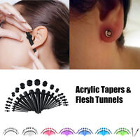 36pc Gauges Kit Ear Stretcher Tapers and Plugs Tunnels 14G-00G Stretching Set DY