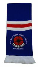 Rangers Retro Style Poppy Remembrance Day Scarf - Made in the UK