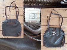 Francesco Biasia Tasche Shopper 2 Henkel Klappe Magnet d.braun Echt Leder 1A