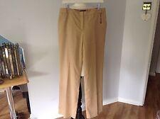 "Ladies Tommy Hilfiger Beige Trousers Size 14/16 ( waist 34"") New !"