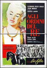 CINEMA-manifesto AGLI ORDINI DEL RE rossi drago, marais, tiller, LAMPIN