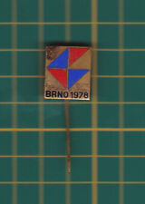 Brno expo 1978  Czechoslovakia - stick pin badge