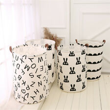 Large Capacity Kids Baby Room Toys Storage Canvas Laundry Basket Drawstring Bag