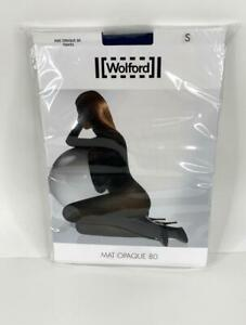 Wolford Mat Opaque 80 Tights Pantyhose Stockings Marlin Blue S NWT