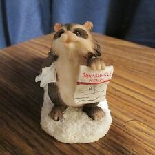Charming-Tails Sylvestri Extra-Extra Raccoon Figurine Holding-Newspaper
