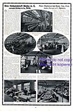 Rico Verbandstoffe Brüx XL Reklame 1916 Richter Most Fabrik Werbung Tschechien