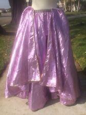 Vintage Belly Dancing Lavender Lame Skirt with Sequins