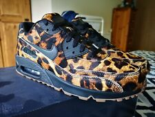 NIKE ID AIR MAX 90 Animal LEOPARD Black UK9.5 US10.5 DS 95 1 pack atmos 1