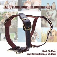 Genuine Leather Pet Dog Harnesses Heavy Duty Pet Vest for Medium Large Dogs