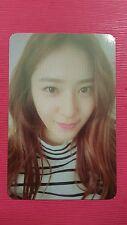 FX f(x) KRYSTAL Official Photocard Orange Ver. 4th Album 4 Walls Photo Card