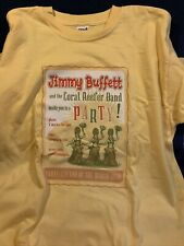 """Jimmy Buffet """"Tour 2006"""" T-Shirt ^ Adult Size Large Yellow ^ New Parrothead Rare"""