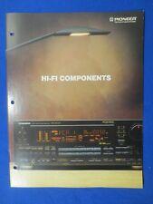 Pioneer VSX-9500S SX-300 A-757 PL-910 PD-4350 DT-750 CT-W910R Brochure Catalog