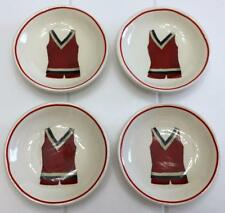 """Creative Co-op White Red Vintage Bathing Suit Design Trinket Dishes 3"""" D"""