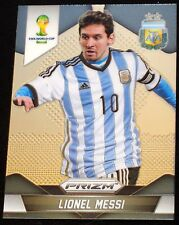 2014 Panini Prizm World Cup #12 Lionel Messi BASE Card Silver Argentina Soccer