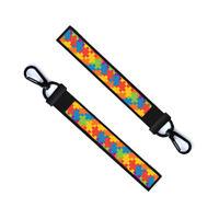 Autism Awareness Chain Keyring Luggage Tag Zipper Pull Bag Key Ring