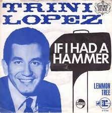 7inch TRINI LOPEZ if I had a hammer HOLLAND EX RARE COVER (S0593)