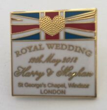 PRINCE HARRY & MEGHAN MARKLE ROYAL WEDDING 2018 PIN BADGE SALE
