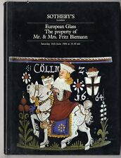 Sotheby's Catalogue - European Glass - Mr & Mrs Fritz Biemann - June 1984