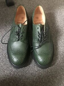 Trickers Green Mens Bourton Shoes Size 8 / 5
