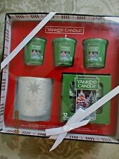 Yankee Candle MAGICAL FROSTED FOREST Christmas Gift Box Set Tealight Votive