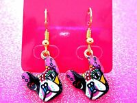 Boston Terrier Dog Dangle Earrings