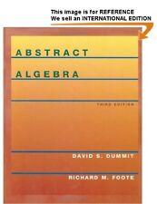 Abstract Algebra by Richard M. Foote, David S. Dummit Int Ed PaperBack - 3ed