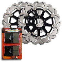 Yamaha Front High Quality Stainless Steel Brake Disc Rotor +Pads FZR600 W [1989]