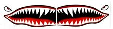 """# Flying Tigers shark teeth decal sticker 1.5"""" t x 3.5"""" w WWII Military Airplane"""