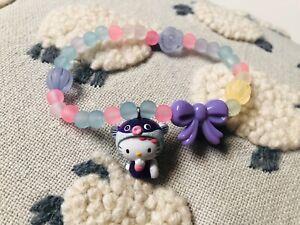 RARE Hello Kitty Bracelet Sanrio 2002 Charm Purple Mascot Candy TARINA Tarantino
