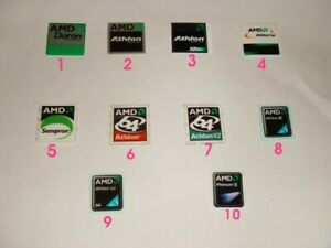 AMD case stickers Duron Athlon XP, Sempron, Athlon X2, Phenom II - $3.99 each
