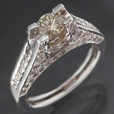 High Set Encrusted Solid 18k WHITE GOLD 69 TINTED DIAMOND RING Val=$1665 Sz K