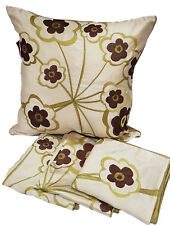 Cushion Covers Pack of 4 Floral Burst Green 45x45cm